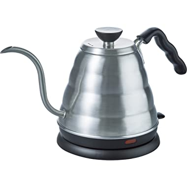 Hario V60 Buono Stainless Steel Gooseneck Coffee Kettle, Electric (.8 liter / 800ml),