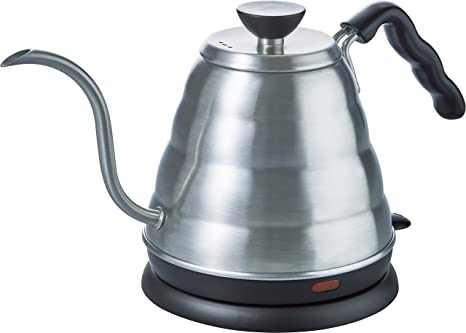 Hario EVKB-80HSV V60 Buono Electric Drip Coffee Kettle, 0.8L, Stainless Steel Dinnerware & Serving Pieces at amazon
