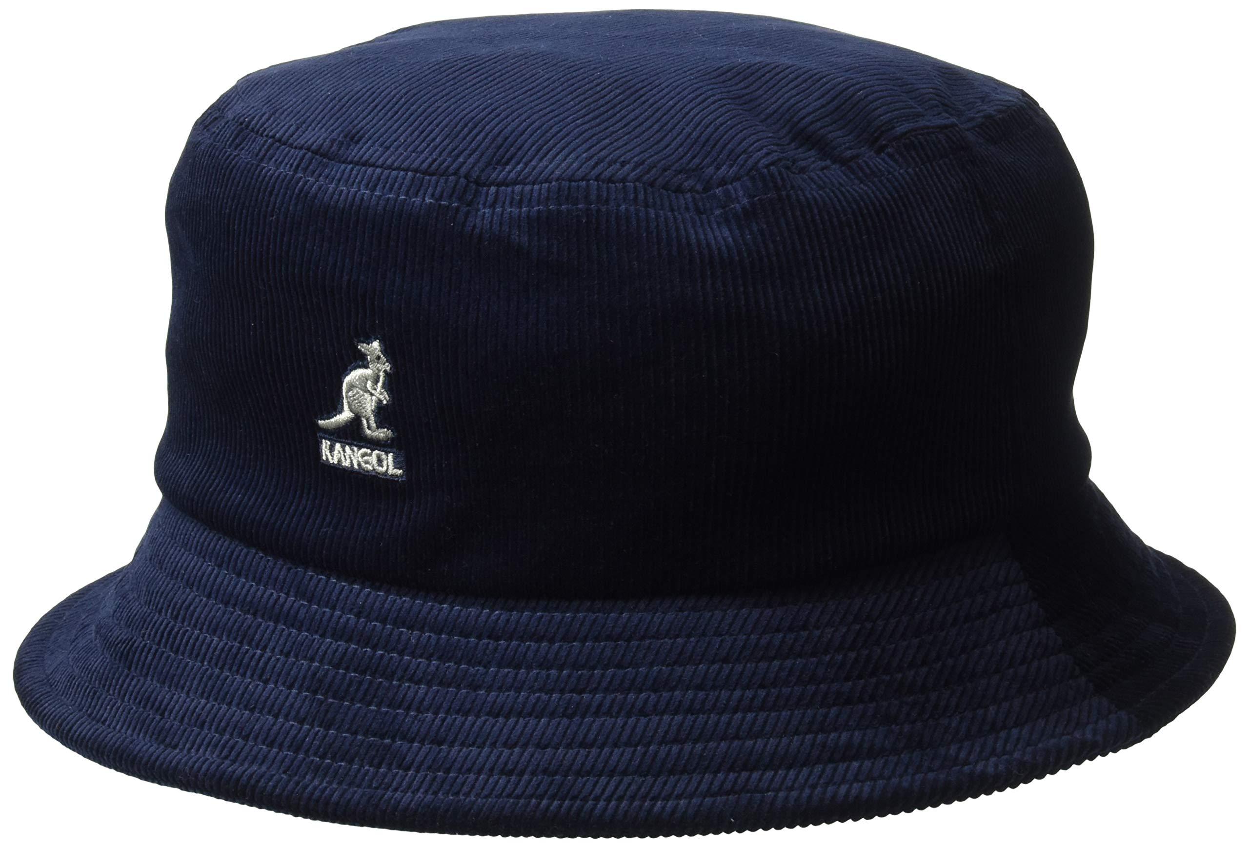 Kangol Men's Cord Bucket HAT, Navy, S