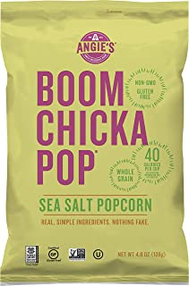 product image for Angie's BOOMCHICKAPOP Sea Salt Popcorn, 4.8 oz Bag, Pack of 12