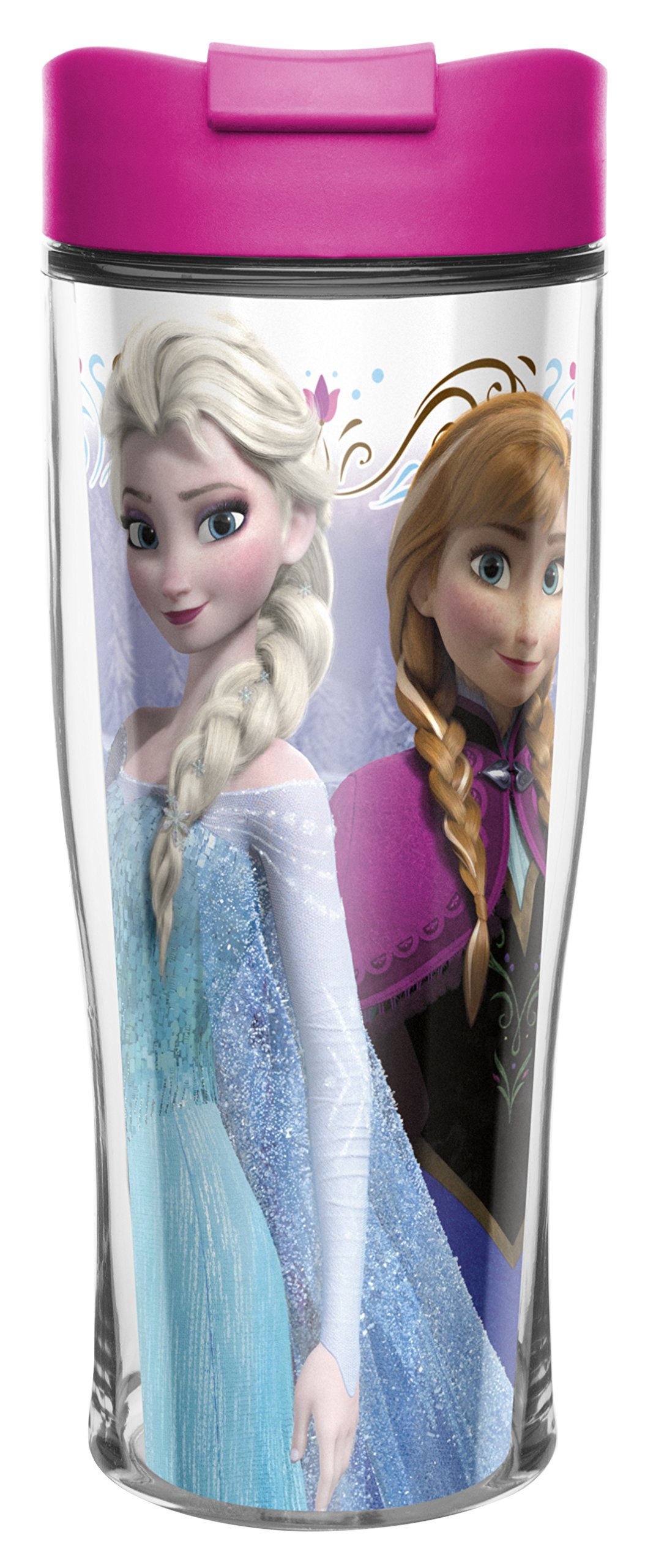 Zak! Designs Insulated Travel Mug with Anna and Elsa from Frozen, 15-Ounce