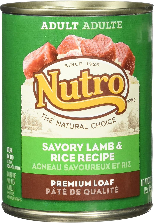 Nutro 50411571 Savory Lamb & Rice Recipe Can Dog Food, 12 Ea/12.5Oz