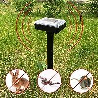2-Pack Solar Ultrasonic Pest Repellent Waterproof Mole Repellent, Rat, Snake, Mouse Mole Repellent