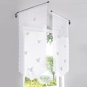 Panneaux Küche   Amazon De Hongya 1er Pack Panneaux Kurzstore Transparenter Voile