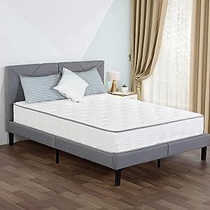 PrimaSleep 10 Inch Hybrid Comfort Tight Top Spring Mattress, Queen