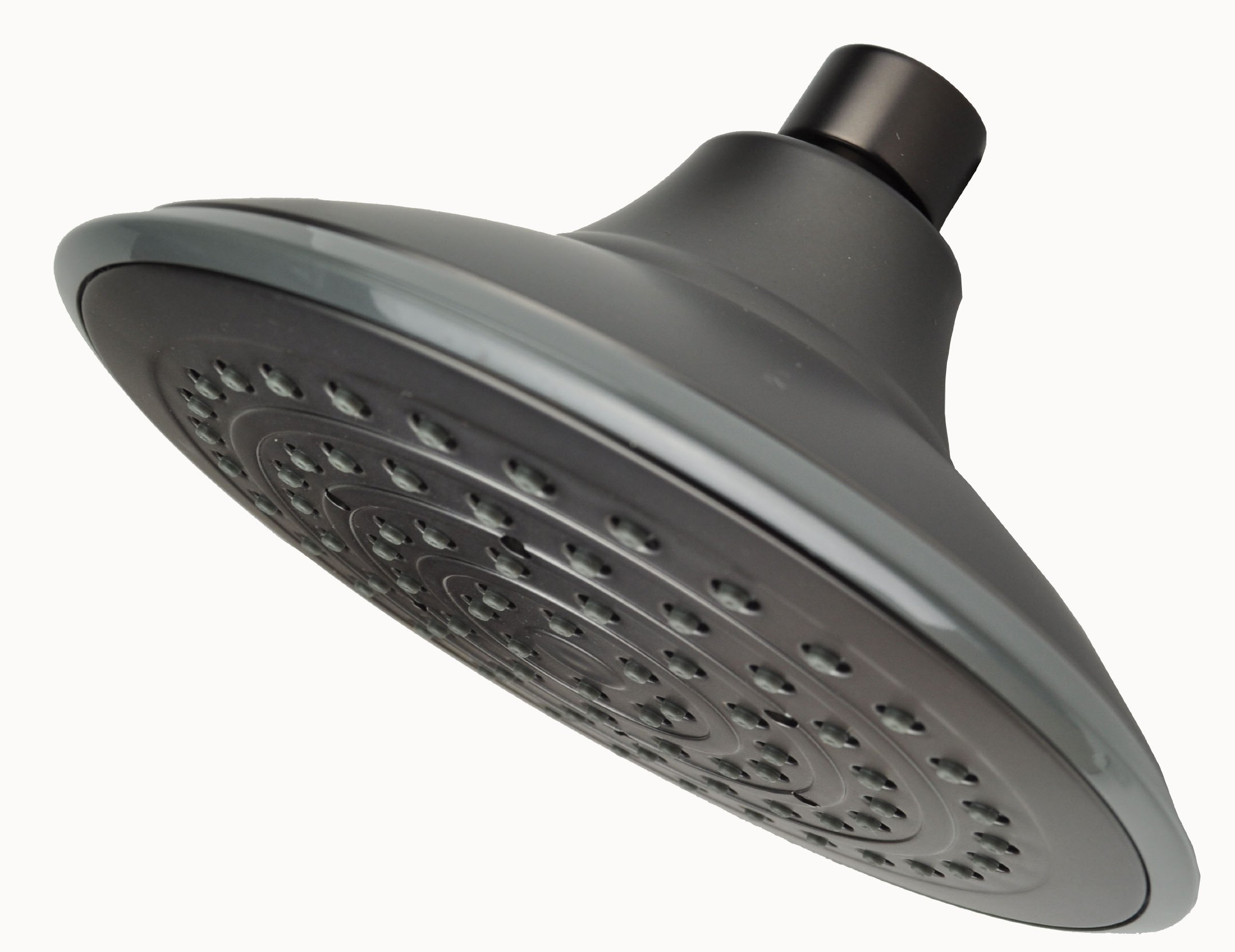 Showerheads, Oil Rubbed Bronze Finish, 6'' Face, Anti-clog Removable Water Restrictor for High Flow By Plumb USA