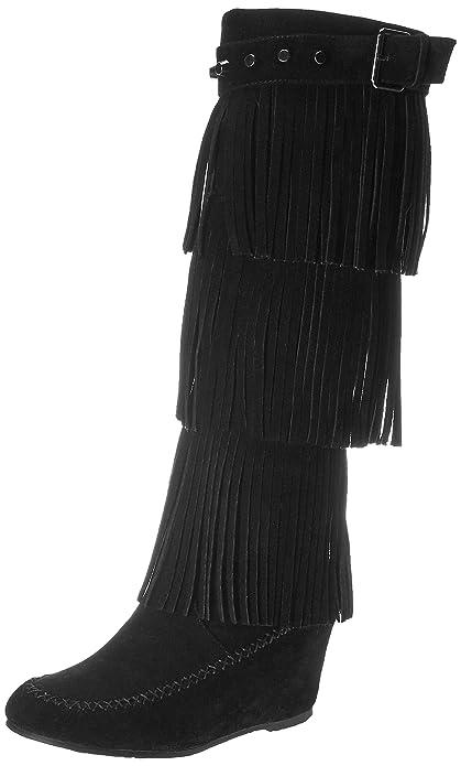 Amazon.com | Nature Breeze Womens Bridget Knee High Moc-Toe Wedge ...