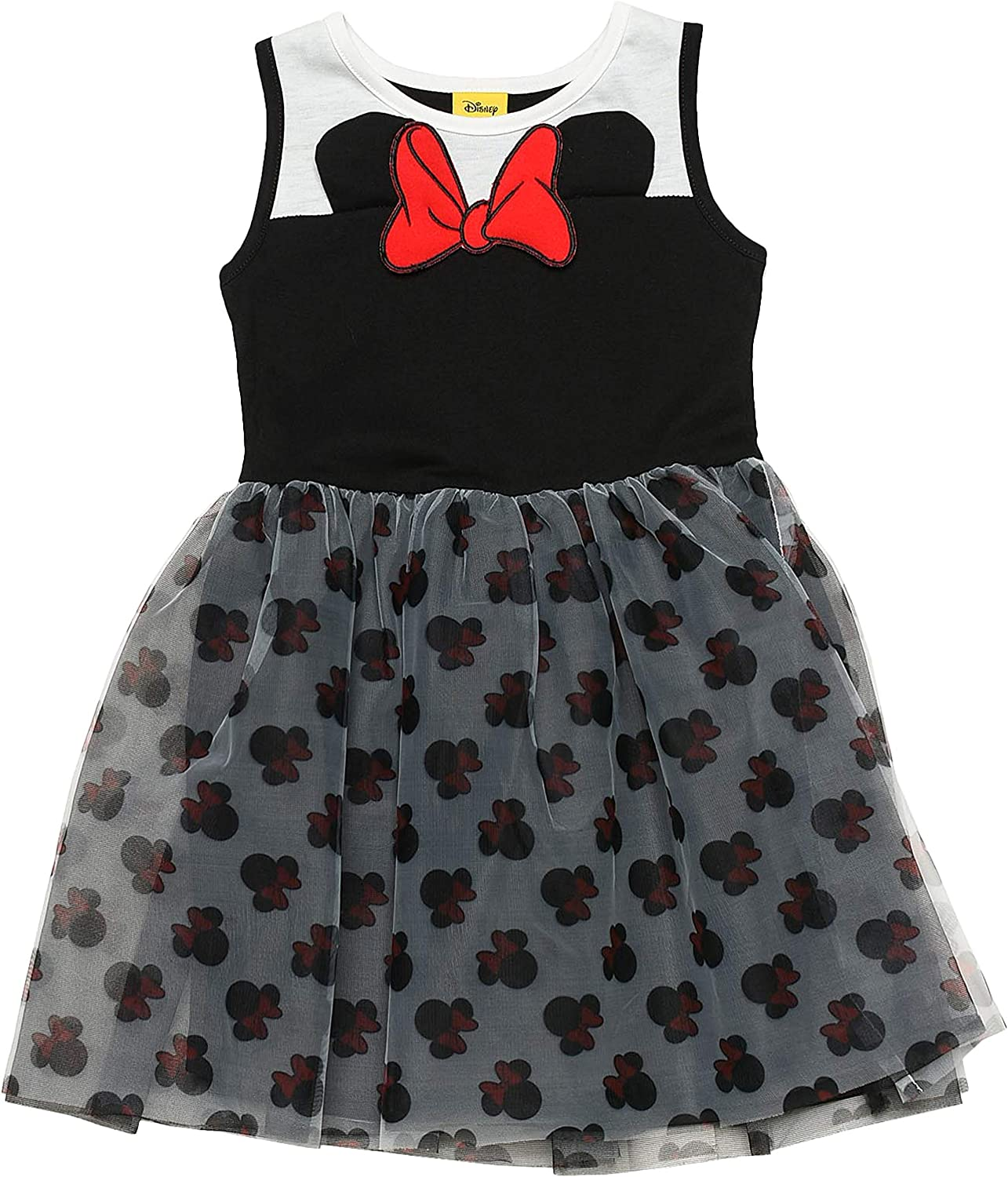 Disney Minnie Mouse Dress Sleeveless Tulle Skirt Icon Girls Ages 4 ...