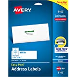 "Avery Address Labels with Sure Feed for Inkjet Printers, 1-1/3"" x 4"", 350 Labels, Permanent Adhesive (8162), White"
