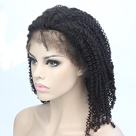 Lordhair Human Hair Stock Afro Kinky Curly Lace Front Wig For African American Women: Amazon.es: Belleza