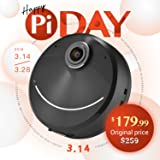 Happy Pi Day 2018 Pi Solo 360 4K Camera, Perfect Selfie, Super-Wide Angle and Creative AR Planet Effects, Portable - Black