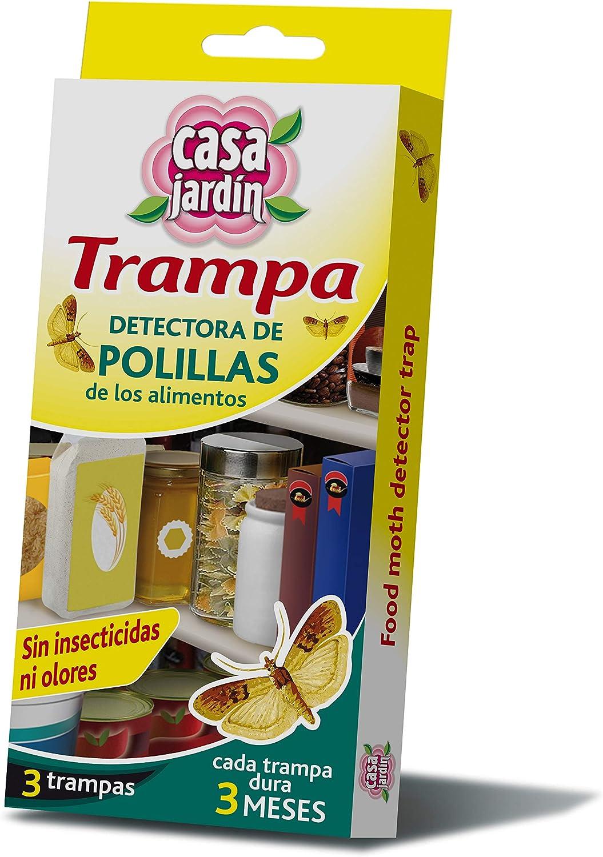 CASA JARDIN | Trampa Detectora de Polillas de los Alimentos| No Contiene Insecticida |No Mancha | No Huele |3 Meses de Duración | Contenido: 3 Trampas: Amazon.es: Salud y cuidado personal