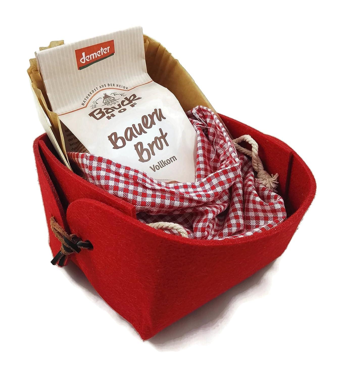 Charming Boxes Kleiner Geschenkkorb Brot Backen Rot - Einweihung ...