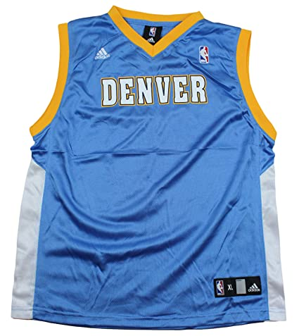 03c3efa04 adidas Denver Nuggets Blank NBA Big Boys Replica Jersey - Light Blue (XL (18