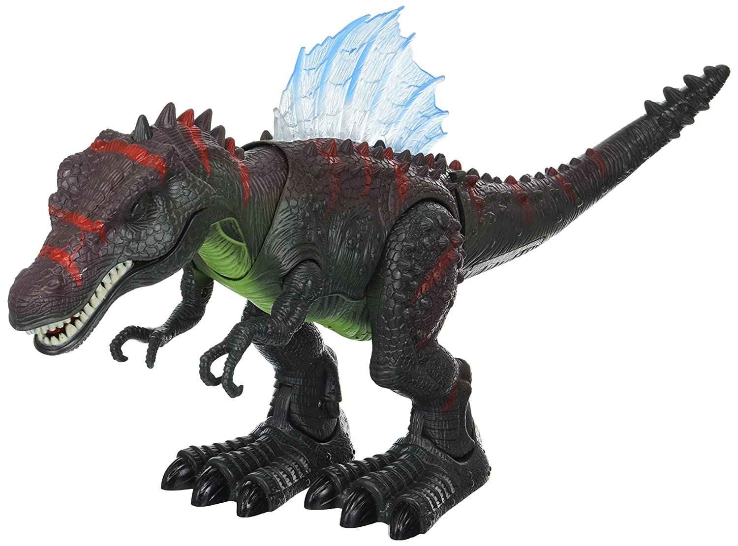 Lights and Sounds Dinosaur Century Spinosaurus Battery Operated Toy Dinosaur Figure w// Realistic Movement Colors May Vary Velocity Toys 6661