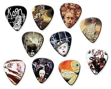Korn (código A5) Juego de 10 púas de guitarra acústica eléctrica: Amazon.es: Instrumentos musicales