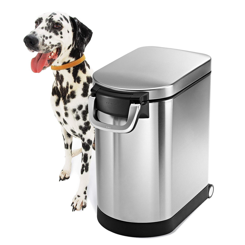 simplehuman contenedor para Comida de Mascotas en Acero Inoxidable y Acabado antihuellas