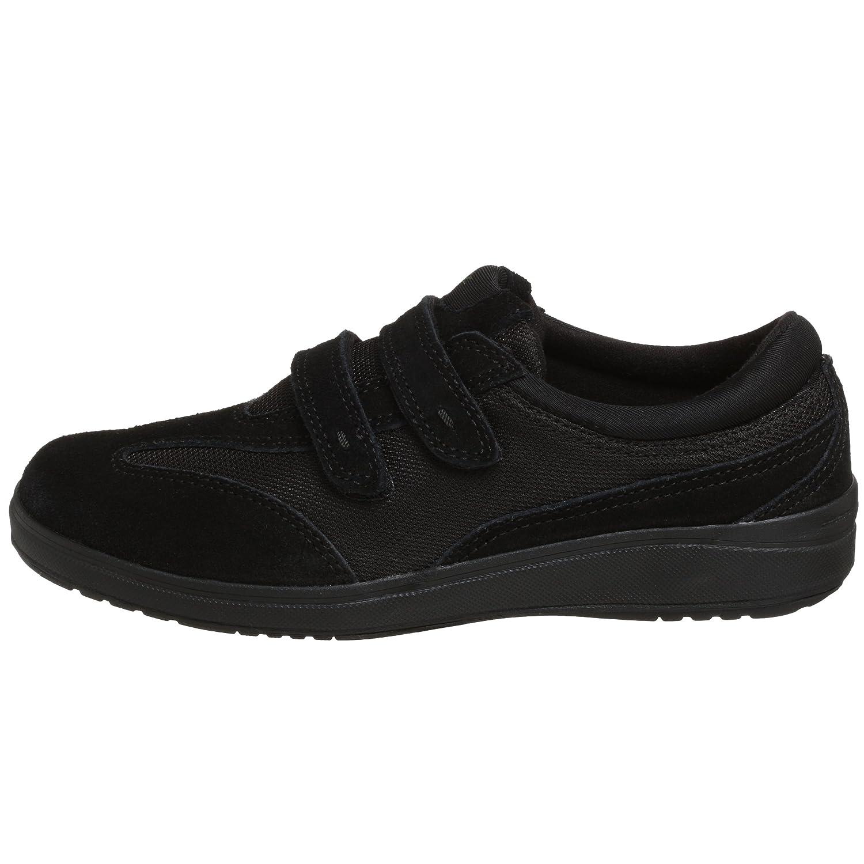 Grasshoppers Women's Stretch Plus Hook-and-Loop Sneaker B001B4TV9U 5 B(M) US|Black