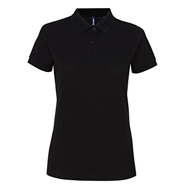 Asquith & Fox Womens Poly/Cotton Blend Polo, Negro (Black 000 ...