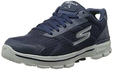 Skechers Go Walk 3 Fit Knit, Herren Sneakers, Blau (Nvy), 40