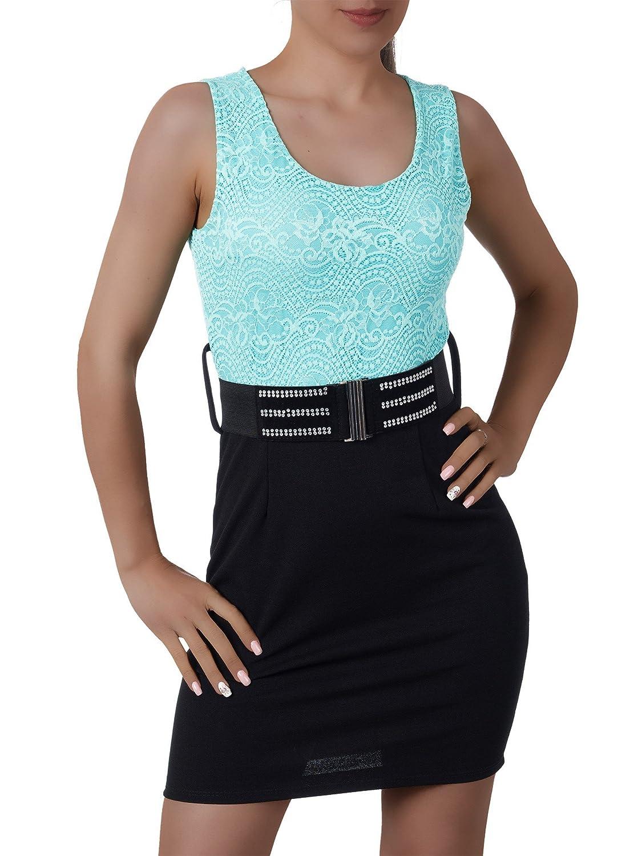 L144 Damen Kleid Kleider Cocktailkleid Sommerkleid Abendkleid Ballkleid Spitze