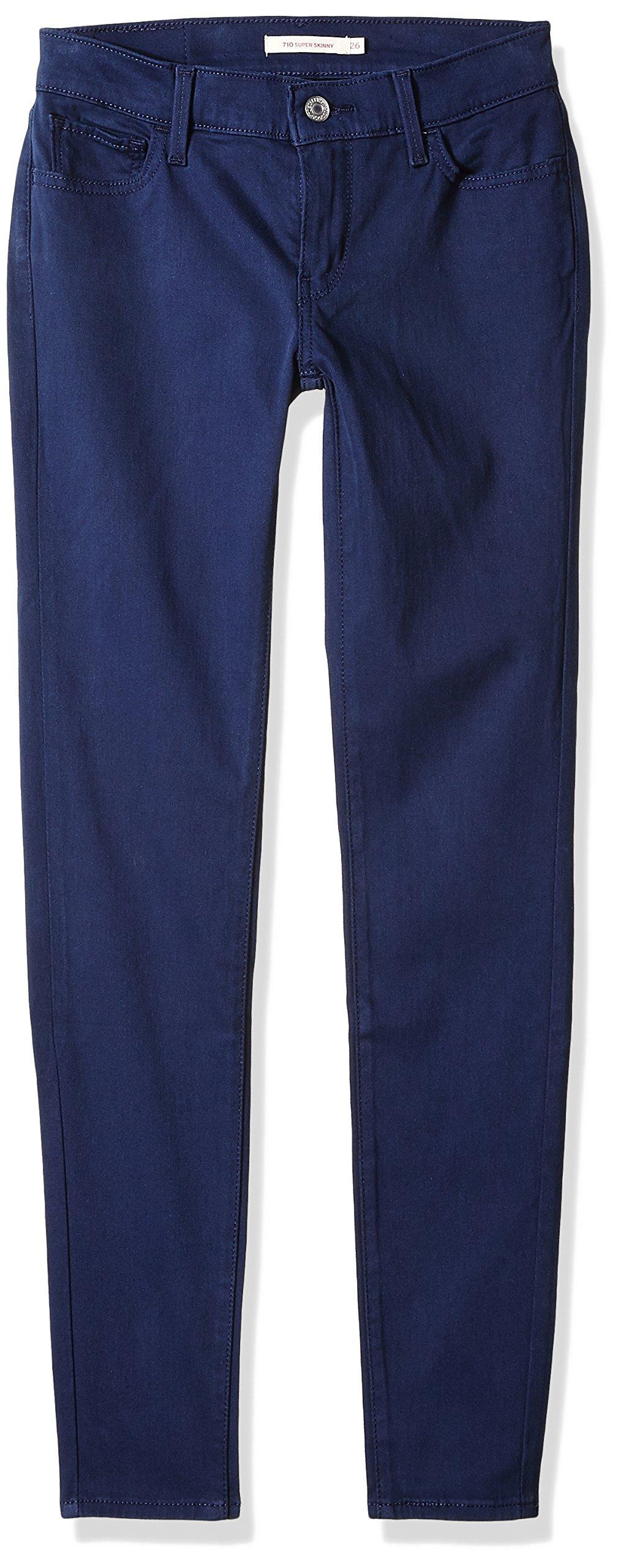 Levi's Women's 710 Super Skinny Jeans, Super Soft Navy Blazer, 33 (US 16) R