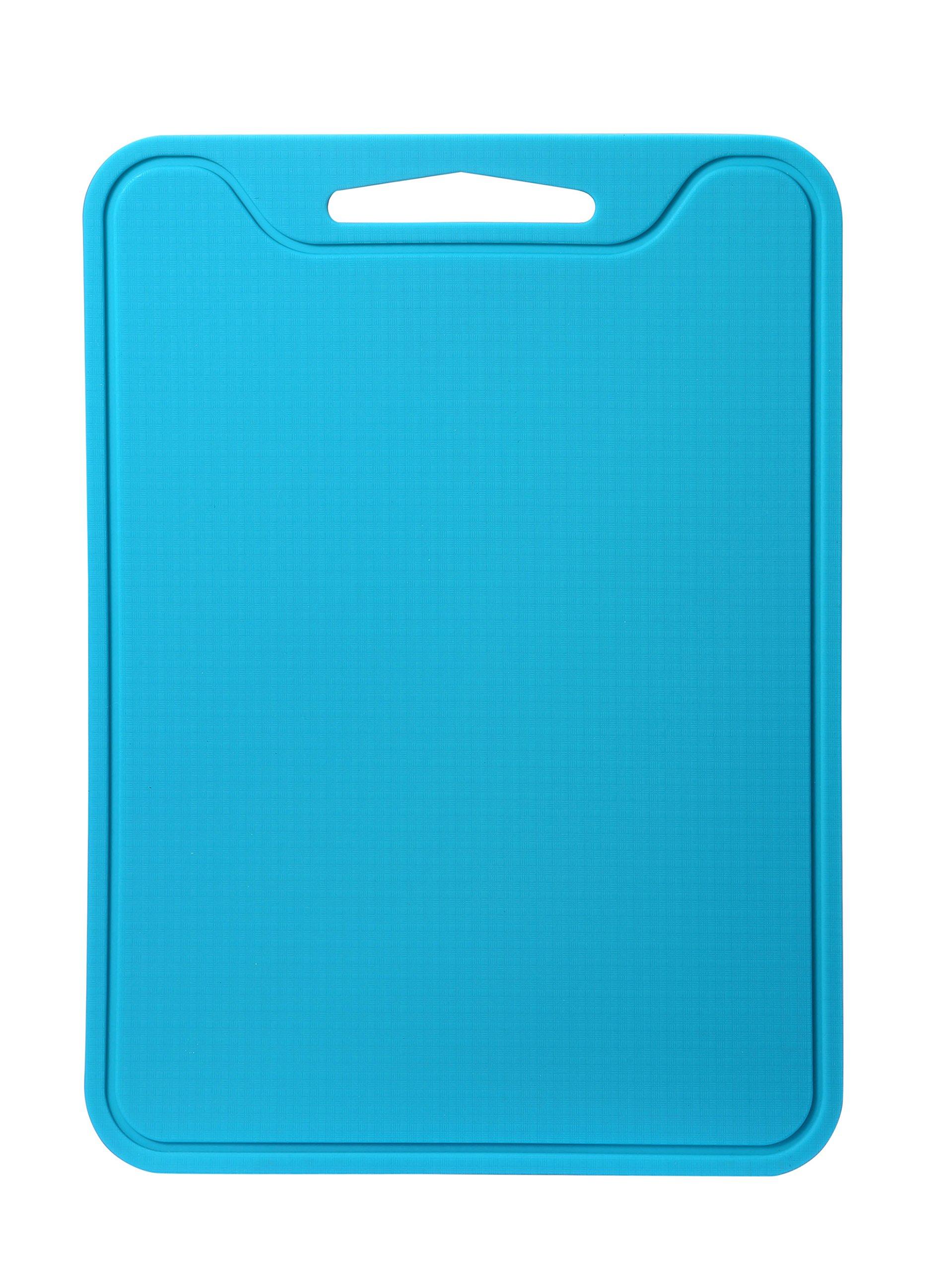 Unicook Plastics Cutting Board, Flexible Silicone Cutting Board for Kitchen, 11.5'' x 8.5'', Dishwasher Safe, Non Slip, Sturdy, Food Grade, Non-toxic, Blue