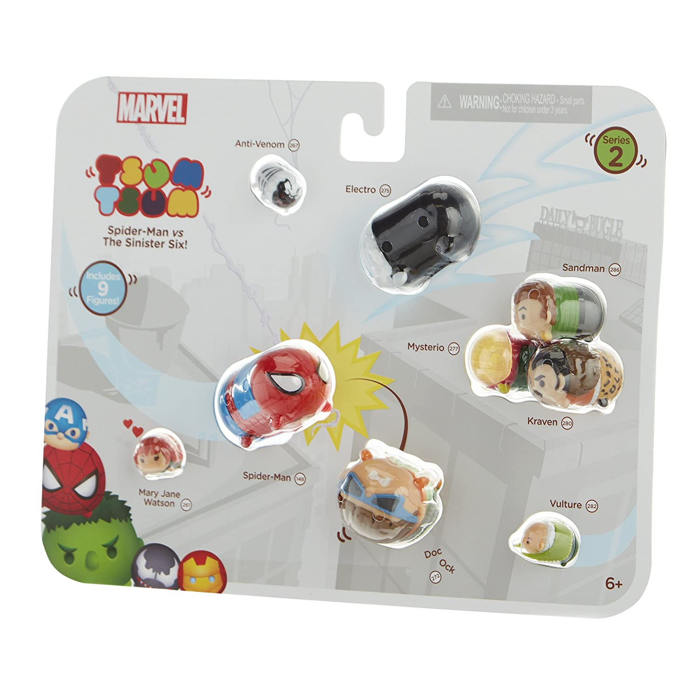 Marvel Tsum Tsum 9 Pack Figures Series 2 Style #2 Jakks 05562