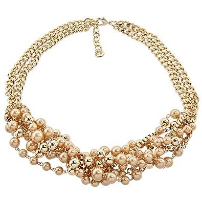 fournisseur officiel prix limité plusieurs couleurs Collier de perles acryliques plaqué or Sarah Kern - Pour ...
