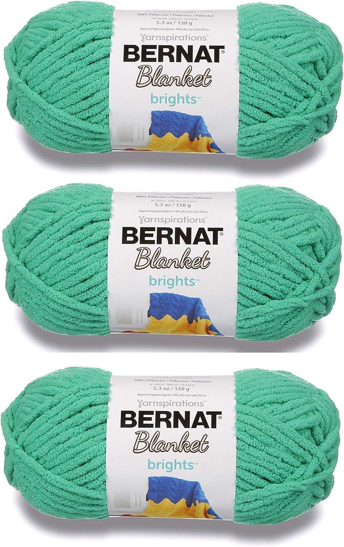 Royal Blue 3-Pack Super Bulky #6 Bulk Buy: Bernat Blanket Yarn 5.3 Ounce 108 Yards Per Skein Solids and Ombres