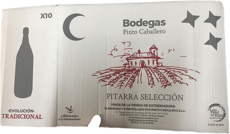Caja de 10 botellas PET x 1,5 litros de vino pitarra tinto elaborado de forma tradicional en Extremadura: Amazon.es: Alimentación y bebidas