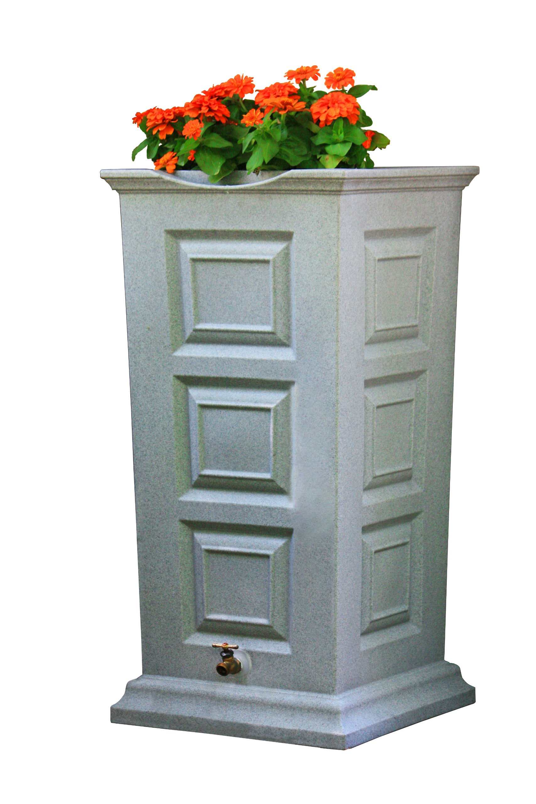 Good Ideas SV-RS-LIG Savannah Rain Barrel 55-Gallon, Light Granite by Good Ideas