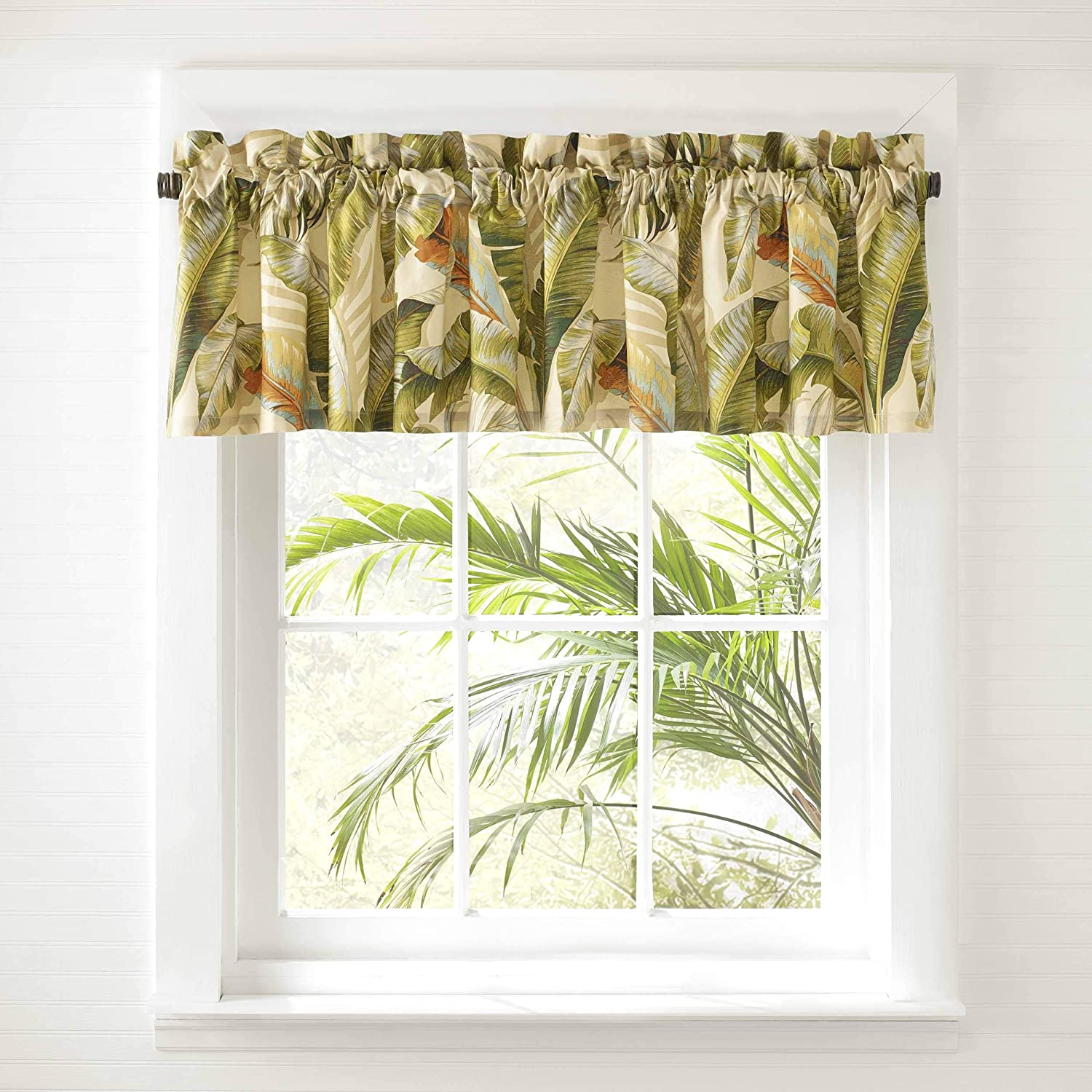 Tommy Bahama Palmiers Valance, 72 x 15, Green