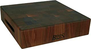 product image for John Boos Block WAL-CCB183-S Classic Reversible Walnut Wood End Grain Chopping Block, 18 Inches x 18 Inches x 3 Inches