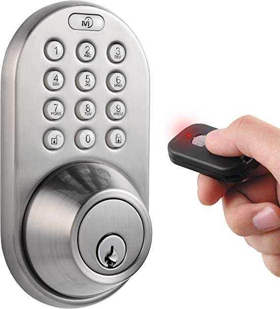 COLOSUS 302Smart Keyless Door Lock Password Keypad Remote Home /& Office Silver