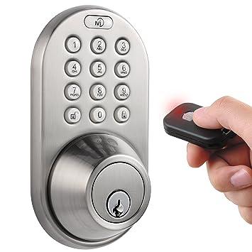 MiLocks QF-02SN Keyless Entry Deadbolt Door Lock with Electronic Digital Keypad and RF Remote  sc 1 st  Amazon.com & MiLocks QF-02SN Keyless Entry Deadbolt Door Lock with Electronic ... pezcame.com