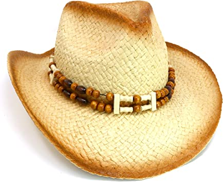 Amazon.com: Skeleteen - Sombrero de paja de paja con diseño ...