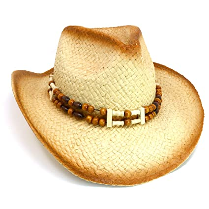Amazon.com  Skeleteen Western Straw Cowboy Hat - Straw Woven Cow Boy ... 5a81d23f255