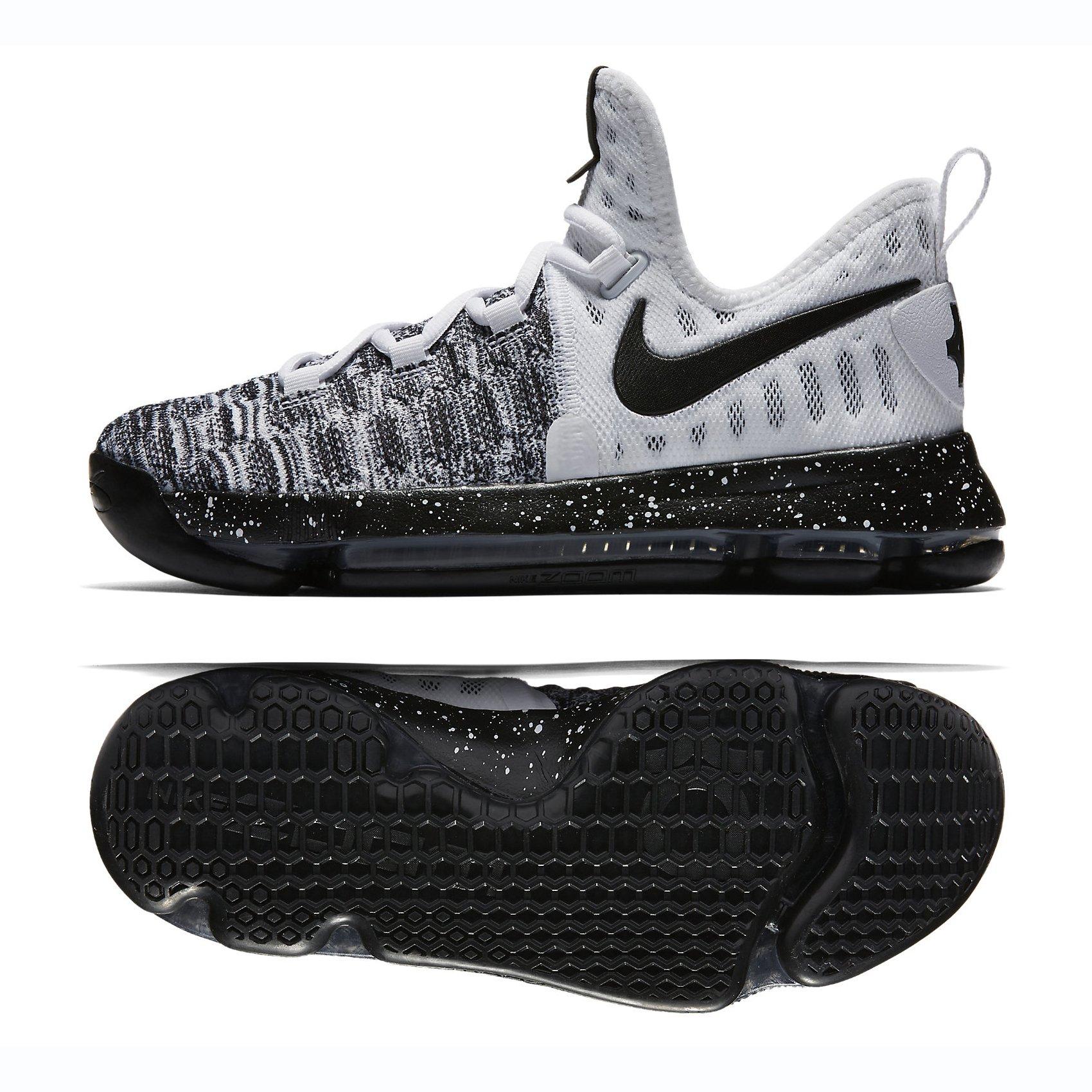 buy popular 12d12 07a3f Galleon - Nike Zoom KD 9 (GS) White/Black (Oreo) (5Y)