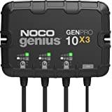 NOCO Genius GENPRO10X3, 3-Bank, 30-Amp (10-Amp Per Bank) Fully-Automatic Smart Marine Charger, 12V Onboard Battery Charger, B