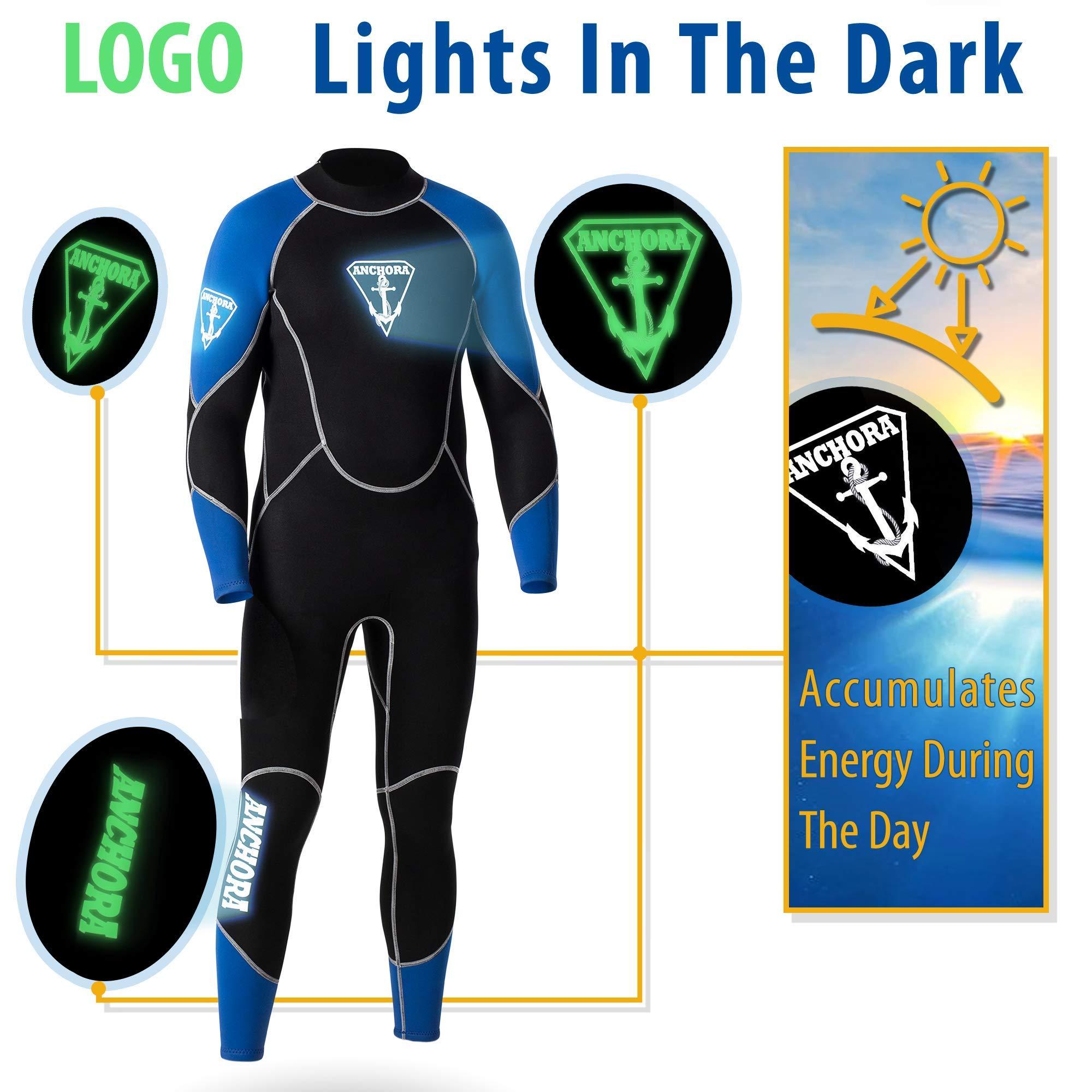 Anchora Men's Scuba Diving Full Wetsuit (Black), No Color, Size X-Large by Anchora