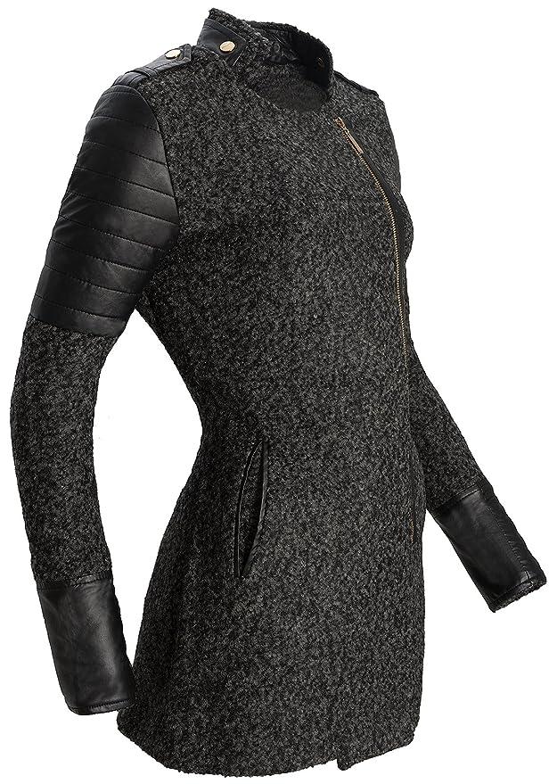 Rock Creek Selection Donna Mezze Cappotto di Lana Giacca