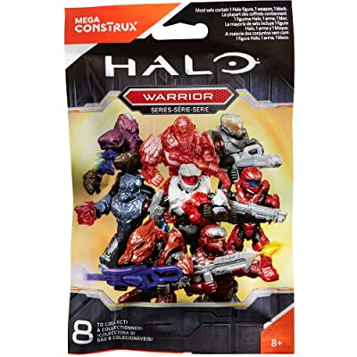 Halo Mega Construx Micro Action Figures Warrior Series CNC84 Blind Bag: Toys & Games
