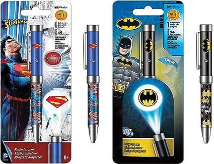 InkWorks - Bolígrafo con proyector Superman y InkWorks Batman de ...