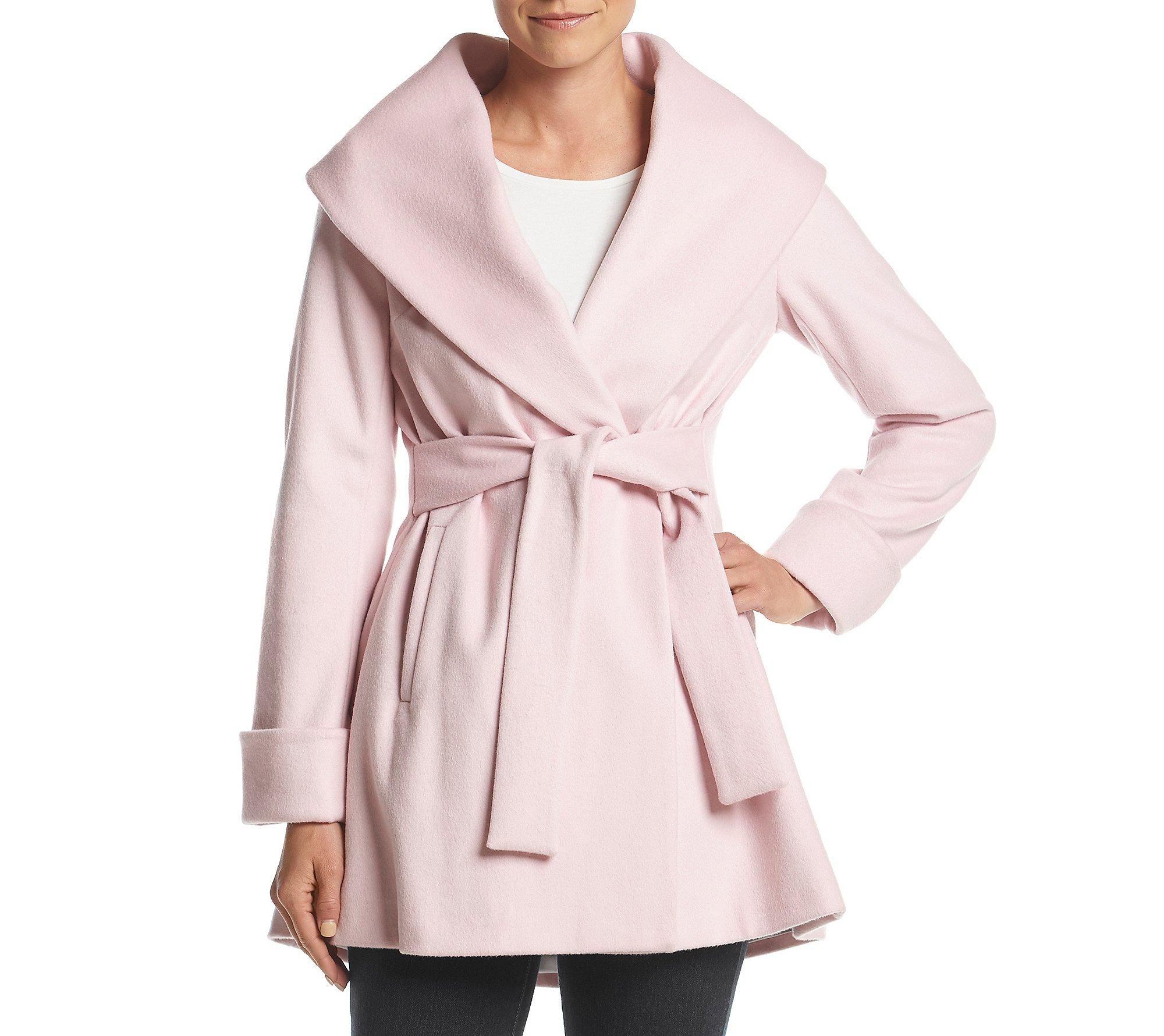 Trina Turk Asymmetric Shawl Collar Wrap Jacket Pink 6