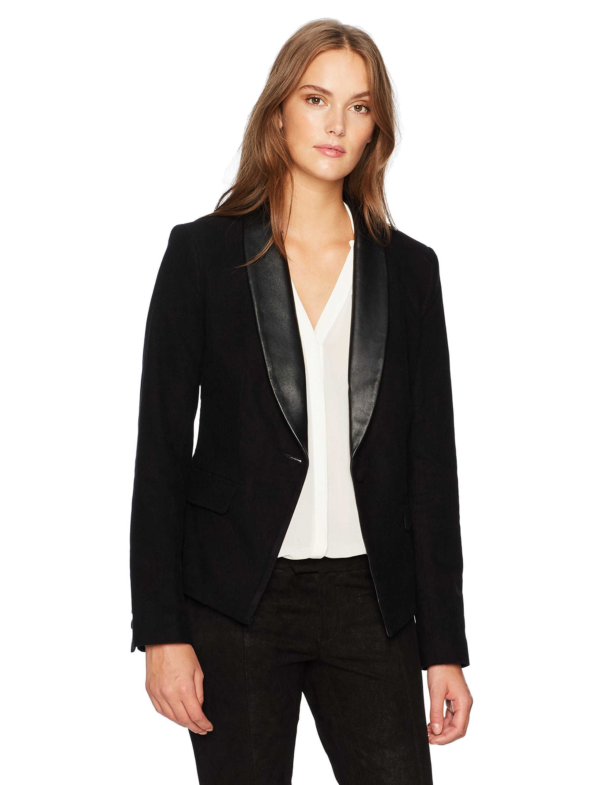 AG Adriano Goldschmied Women's Estelle Blazer, True Black, M