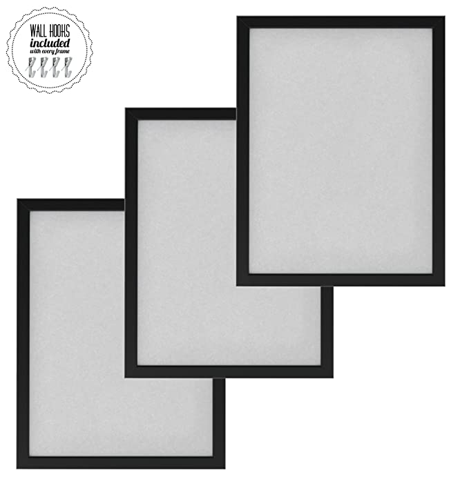 Amazon.com - IKEA Family Large Picture Poster Frame Collage with Metal Hardware - 12 x 16 Picture Frames [A+++QBG Wall Hooks] | Set of 3 Wall Photo Frames ...