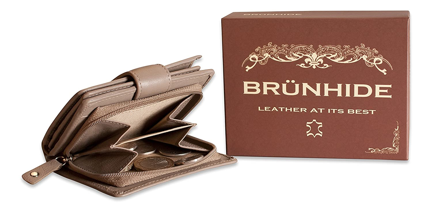 Brunhide Ladies real Genuine Leather Purse Wallet New Boxed 208-300 limited stoc