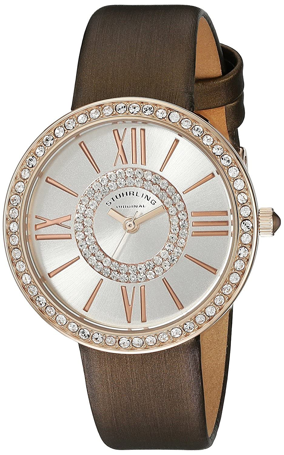 ストゥーリングオリジナル Stuhrling Original Women's 566.05 Vogue Analog Display Quartz Brown Watch [並行輸入品] B01B73V2W8