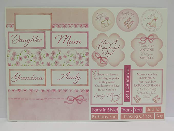 GIRL SCRAPBOOKING TOPPERS *24* BABY GIRL *Daughter* CARD MAKING EMBELLISHMENTS